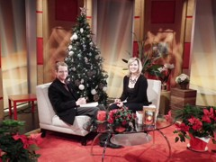 On the set of the Daytime Toronto show on Rogers TV Toronto with host Val Cole